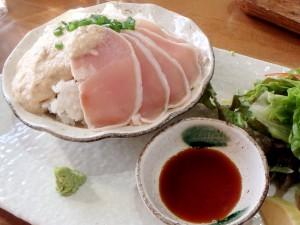 「自然薯と地鶏のごはん」!ティータイムにて900円