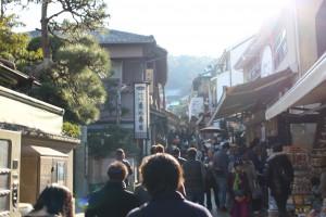 江ノ島到着! 江島神社を目指します