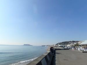 七里ヶ浜海岸を一望できます