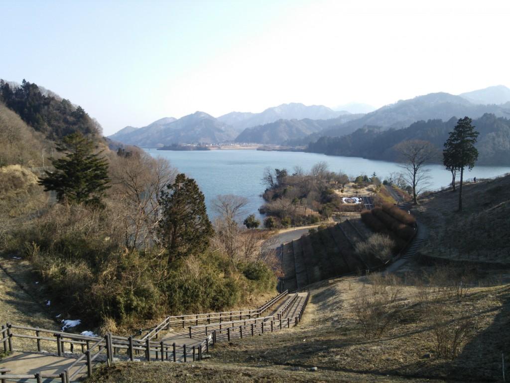 四季折々の宮ヶ瀬湖を一望できます